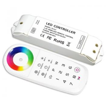 LTECH T4 2.4G 8 Zone RGBW Controller WIFI Wireless Touch Panel Remote Control T-PWM