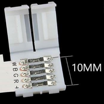 T 10mm 5 PIN Quick Connector for LED Stripe RGBW RGB+W