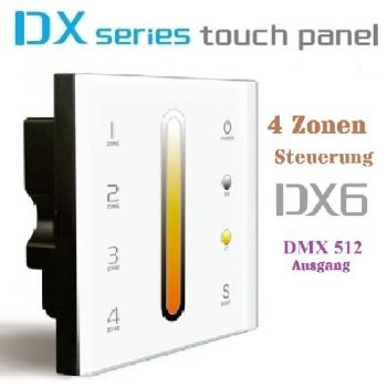 LTECH DX6 4 Zonen T-PWM LED Controller WIFI Wireless 2.4 GHz Touch Panel DMX 512 Dimmer