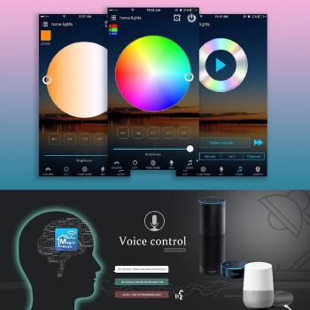 Magic Home mini WIFI WLAN LED RGBW Controller DC9V-12V Stripe Streifen Sprach APP Steuerung Alexa Google Home ITFFF Applets