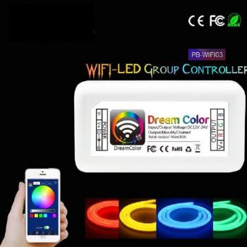 WIFI WLAN LED Controller DC12-24V 10A RGB Android IOS APP Streifen Stripe Band