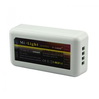Mi-Light 2.4G 4 Zonen LED Controller Dimmer WIFI WLAN APP Steuerung 12V-24V