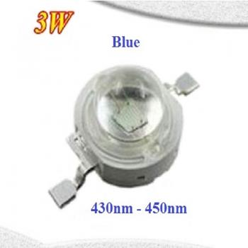 High Power 3 Watt Epistar Led Emitter Chip Dunkel Blau 430nm 440nm 450nm 3W 3.4V 3.6V 700mA