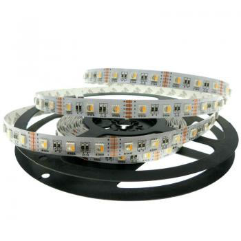 5m 12V Led Streifen 4in1 RGBWW Warmweiss SMD 5050 Strip dimmbar RGBW RGB+WW