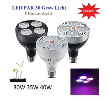 40W LED Grow Plant Light Full Fruiting 3200K 4 Range Full Spectrum PAR30 16x3W