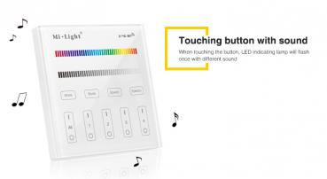 Mi-Light LED RGB RGBW T3 Smart Touch Panel Remote 2.4 GHz 4 Zonen WIFI Schalter Controller 110V-230V AC