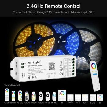 Mi-Light YL5 RF 2.4G 5in1 WIFI WLAN Led Controller APP Alexa Sprach Steuerung Voice Single Farben CCT RGB RGBW RGB+WW