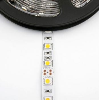 5m 12V LED Stripe Warm White 3200K 60leds/m SMD5050 300 Leds 14.4W/m  IP65 Waterproof dimmable