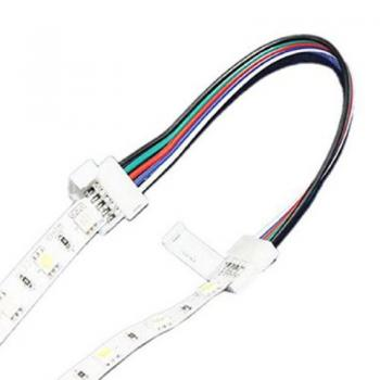 5 PIN RGBW LED Stripe Solderless Connector Adapter Conductor 12mm Jumper