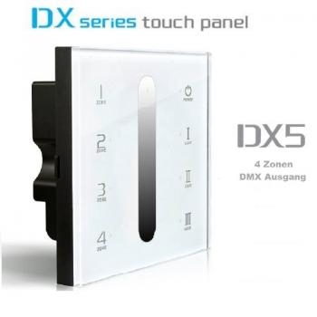 LTECH DX5 WIFI 2.4G RF LED 4 Zone Touch Panel T-PWM Dimmer Controller