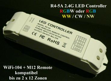 LTECH R4-5A RF 2.4 GHz LED RGB RGBW Controller Wireless