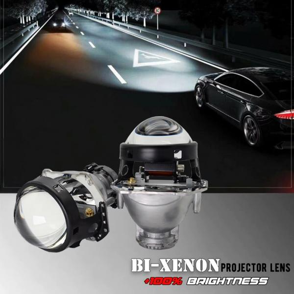 RYSLUX Metal Hella 3R G5 Bi Xenon Headlights Lens D2S Lights Projector Universal Car Lamp D1S D2H D3S D4S Bulbs Motors Retrofit