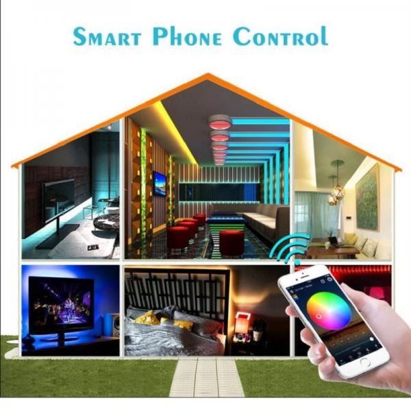 5m 10m 15m 20m Magic Home WiFi LED Controller RGB Strip with Remote Control