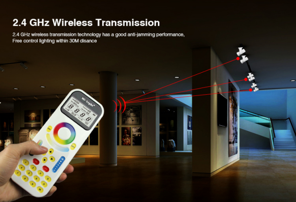 Mi-Light LED RF 2.4G 99 Zonen Fernbedienung LCD Smart Touch Panel Digital Remote