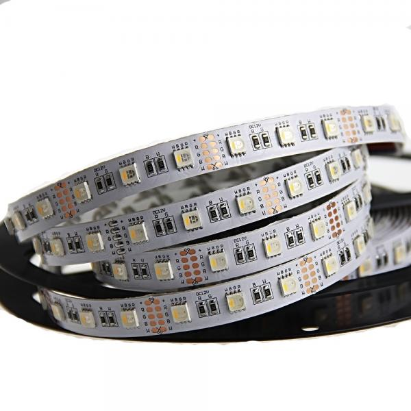 5m 12V 4in1 Led Stripe RGBW White 6500K 60leds/m IP20 300leds dimmable RGB+W