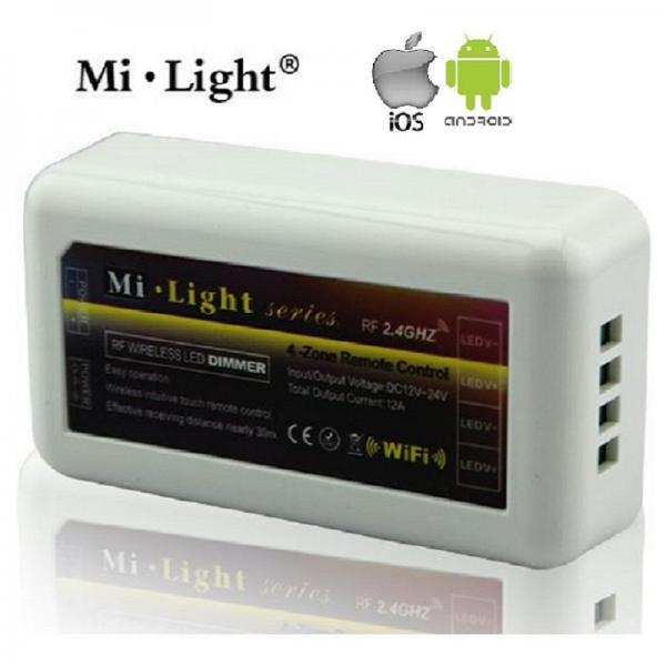 Mi-Light 4 Zone RF 2.4G WIFI LED Touch Panel Fernbedienung Dimmer Farbtemperatur Regler