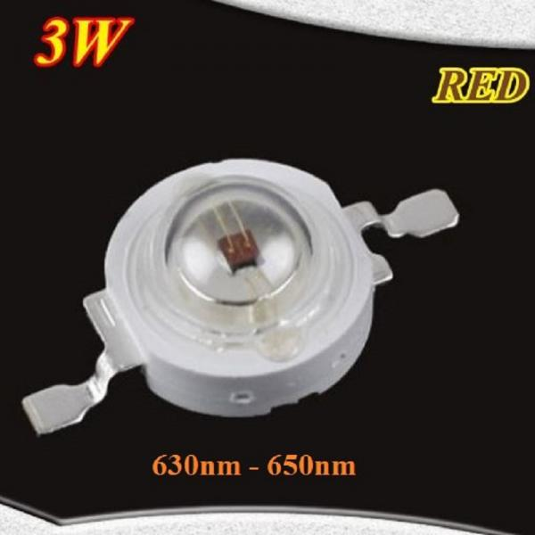 High Power 3 Watt Epistar Led Chip Red 630nm 3W 2.4V 2.6V 700mA