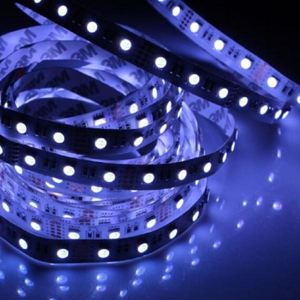 5m 24V Led Stripe 4in1 RGB+W White 6500K SMD 5050 300 Leds IP65 Waterproof dimmable