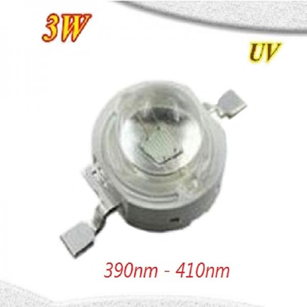 High Power 3 Watt Epistar Led Emitter Chip Ultraviolett UV 390nm-410nm 3W 3.4V 3.6V 700mA