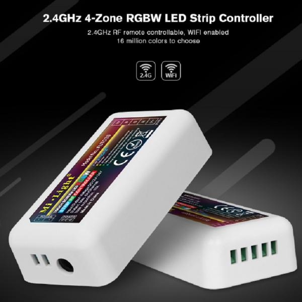 Mi-Light 4 Zonen LED RGBW Streifen Stripe Controller Dimmer RF 2.4G WIFI WLAN