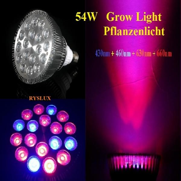 45W LED plant light 7 Range 3200K lamp Grow plants bloom E27 Full Spectrum PAR38