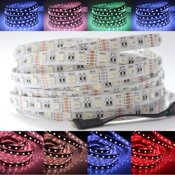12V 4in1 SMD 5050 LED Stripe RGB+WW Warm White 60leds/m IP20 dimmable 300 Leds RGBWW