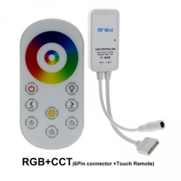 mini rf rgb+cct wireless strip controller whit touch remote control  for led stripe