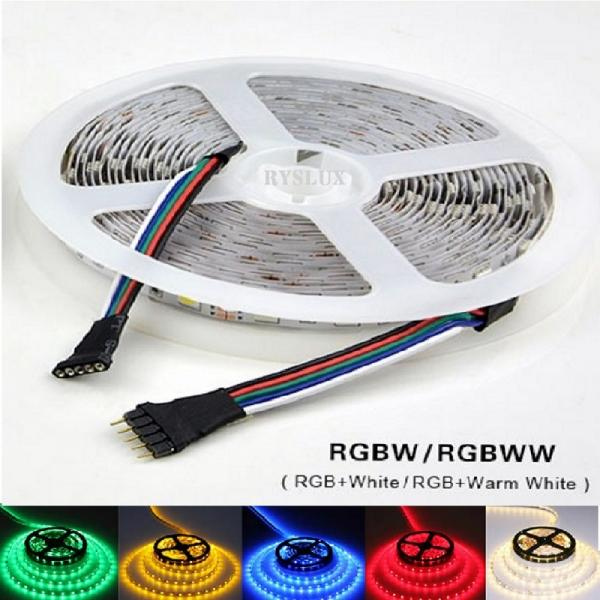 5m 24V LED RGBW White 6500K Stripe IP20 non Waterproof SMD5050 300 Leds dimmable