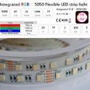 5m 24V 4in1 RGB+Weiss 6500K SMD5050 Led Streifen Wasserdicht IP65 dimmbar