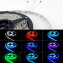 5m 12V RGB Led Stripe Streifen Licht IP20 SMD5050 60leds/m dimmbar 300leds 14.4W/m