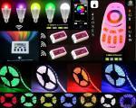 SET Mi Light 5m LED Streifen Stripe 12V SMD 5050 + 2.4Ghz 4 Zonen Touch Panel Fernbedienung + 2.4G RGBW Controller